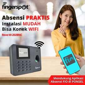 Fingerprint Absensi PRAKTIS Bisa Konek WIFI Revo W-202BNC