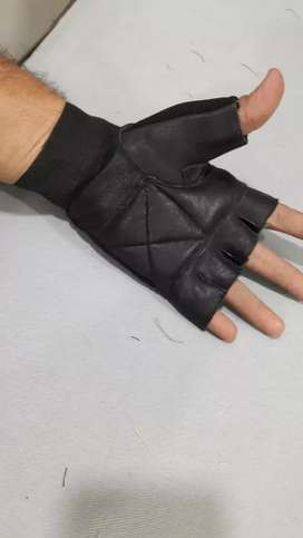Winter leather gloves & gym workout gloves