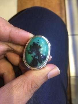 Bacan bluis big size ring perak