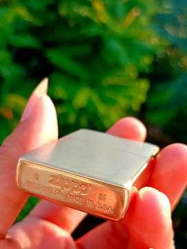 Zippo brass kuningan original new