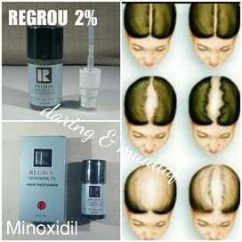 Minoxidil Regrou 2% Obat Botak Penumbuh Rambut Rontok Wanita