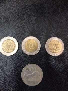 Uang coin 100 tebal dan 1000 kelapa sawit