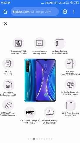 Realme XT 4/64  white colour sealed pack available