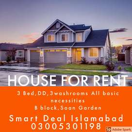 House for rent A block soan gardens