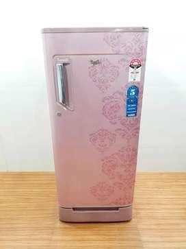 Whirlpool single door 195 liter flower design refrigerator