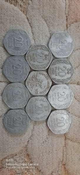 5, 10 and 20 paisa coin collection