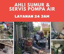Servis service pompa air sedot wc saluran mampet sumur bor gali suntik