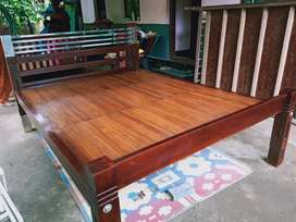 Teakwood with steel designed family cot