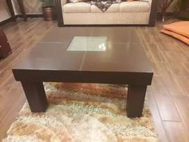 Wooden center table set