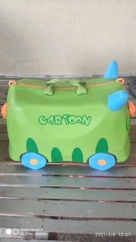 Tas Koper/Luggage Hardcase Cartoon Ride On Anak