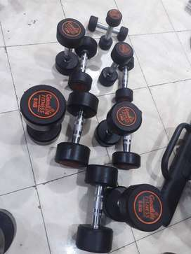 Dumbbell Rubber coated Brand- Good life Fitness  made,Pakistan