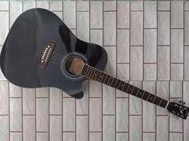 Akustik gitar jumbo yamaha black
