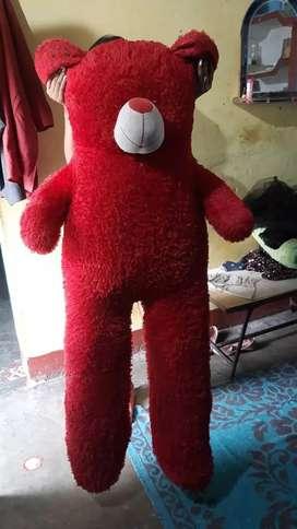 Cute red teddy length 5 foot