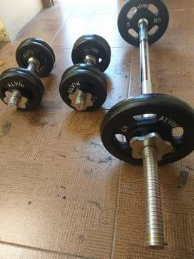 Barbel besi set lengkap