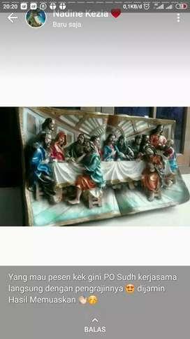 Hiasan Dinding 3D Perjamuan Kudus