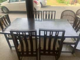 6 seater genuine Teak wood Dining Table