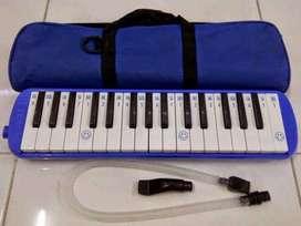 Pianika Combo Biru Sound Tiup Dapat Tas