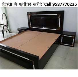 Offer Price New Double Bed With box 7199/-only Emi Available
