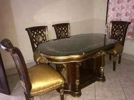 Kursi makan meja gendong kayu