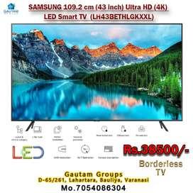 Samsung 43inch led TV smart borderless 4k uhd 3year warranty FUX PRICE