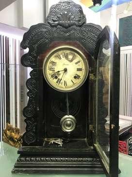Ansonia antique Black Wooden Analog Clock
