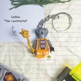 Gantungan Kunci Lego Ninjago Minifigure Chokun The Constrictai