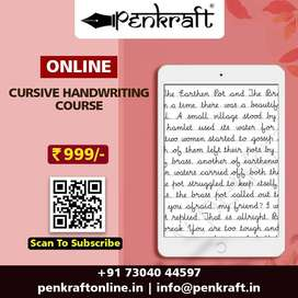 Penkraft | Learn Certified Online Cursive Handwriting Course