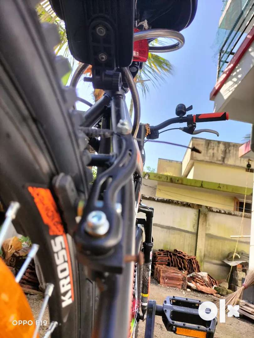 Kross cycle, front mono shock up,front disk brake