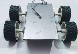 Robot car chasis with motors