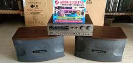 1 Set karaoke martin roland KA-1800 Speaker 10inch mulus
