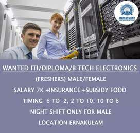WANTED  I T ELECTRONICS FRESHERS ( APPRENTICESHIP TRAINEE)