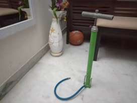 A hand pump and a foot pump