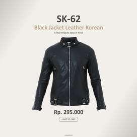 Jaket Kulit Hitam Pengendara Exclusive | Jaket Jogja |Crowsdenim SK-62