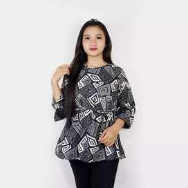 Blouse batik serba motif