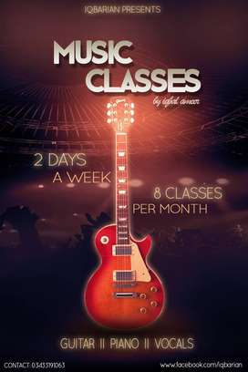 learn music instruments and vocals in a month professionally