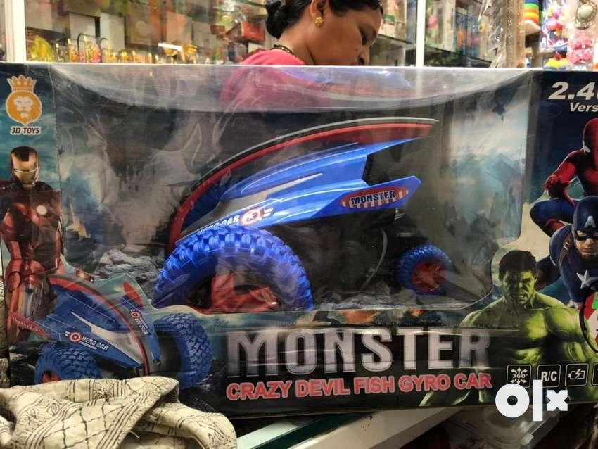Monster devil fish gyro car toy 0