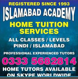 Oldest Islamabad Academy since 93 Best Home Tutors for Rwp Isb & Zoom