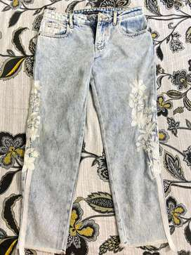 Ethnic outfitters embroided jeans (used once)
