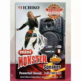speaker Bluetooth toa portable support mic usb mmc ichiko monster