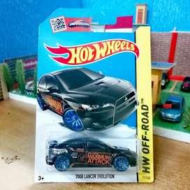 Hot Wheels hotwheels 2008 Lancer Evolution Black Hitam Maximum Attack