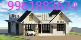 Kodungoor.10.cent.new.house.bank.loan.facilityes.tar.road.side.