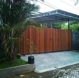 Pagar kayu ulin kalimantan/decking kayu/lantai kayu/kanopi minimalis