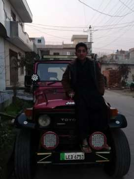 Toyota jeep 78 model lahore no