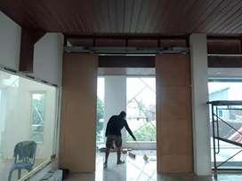 Sliding mesin pintu 2 daun indoor