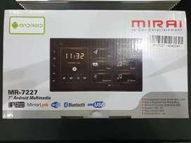 Tv Mobil Android Merek Mirai 7 Inci Gps.Playstore.Youtobe.Bisa Kredit