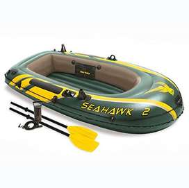 Seahawk 2 Inflatable 2 Person Floating Boat Raft Set with Oars & Air P