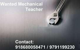job opening Mechanical Teacher
