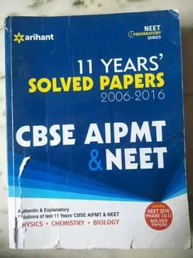 11 years solved paper for aipmt and neet