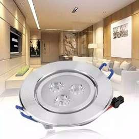 led 3 mata ( downlight ) led ceiling light