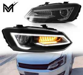 Polo Audi type headlights with drl